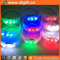 Motion Sensor Sound Activated LED Silicone Wristband