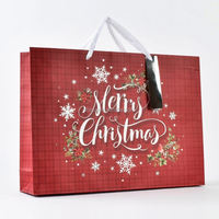 hot sell fashionable custom paper gift carrier bag with handles