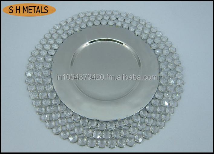 Charger plate ,cyrstal charger plate, Aluminum charger plate