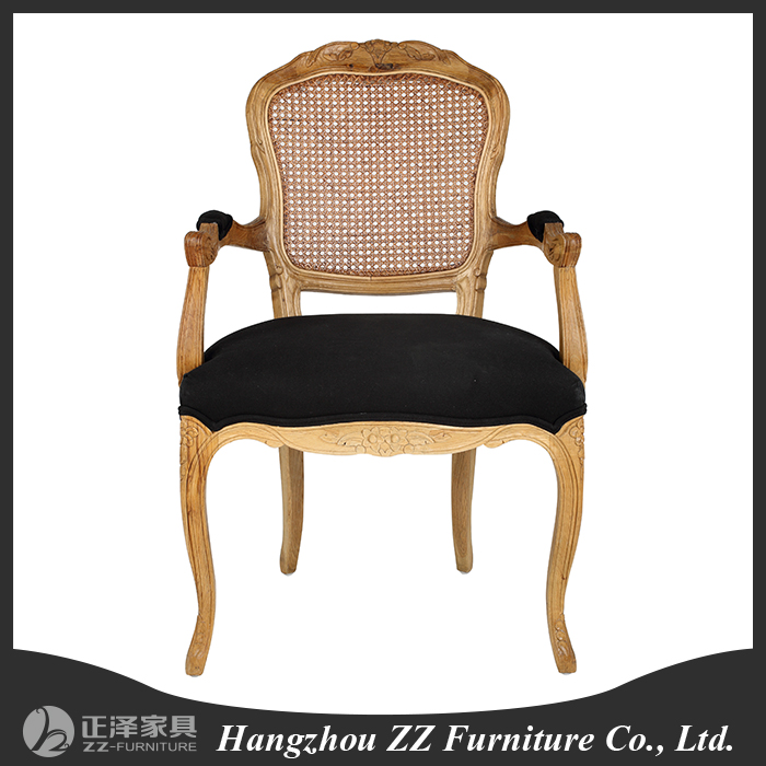 french style oak wood frame child Dining Chair French Louis Chair Round back louis chairs price
