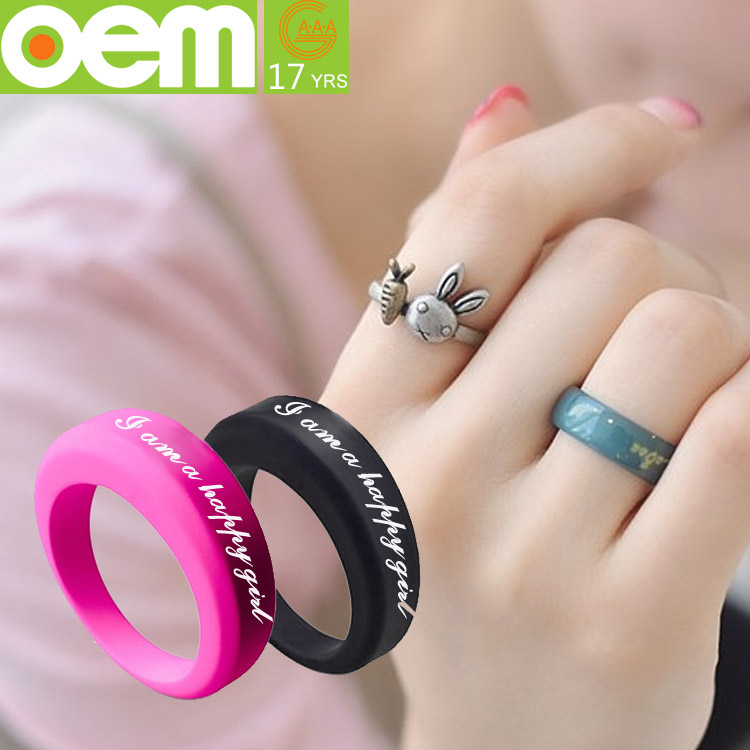 Rubber Wedding Bands Fashion Mens Boy Rubber Silicone Wedding Ring