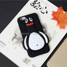 Unique 2016 fashion lovely 3d penguin design silicone phone cases for ihpone 6/ 6s,china price mobile covers