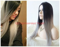Wholesale top quality ombre hair extension ,100 human hair virgin Brazilian hair full lace wig