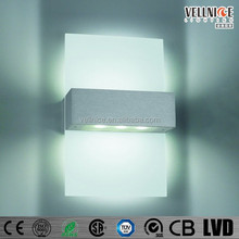 3 Years warranty Interior pure aluminium glass led up and down LED wall light / up and down LED wall light W3A0070