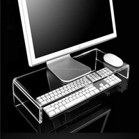 N shape clear acrylic computer monitor stand
