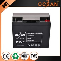 High capacity best quality 12V 17ah fashional designed solar storage battery