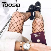 Wholesale Popular Fashionable Europe USA Trendy NO.8155 Black Girl Sexy Fishnet Stockings