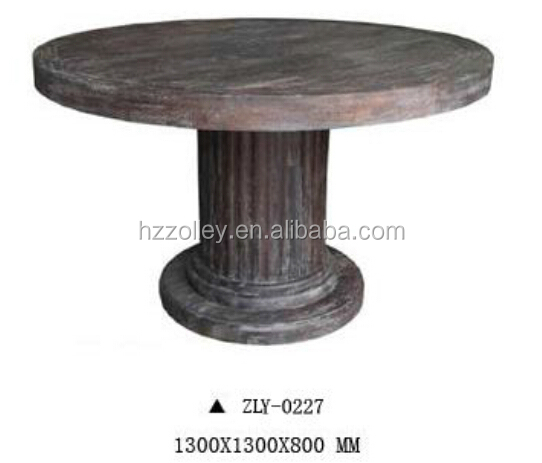 2015 hot fashion eco-friendly reproduction Handmade Wooden Round Dining Table hotel lobby table