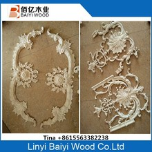 Decorative furniture wood appliques and onlays