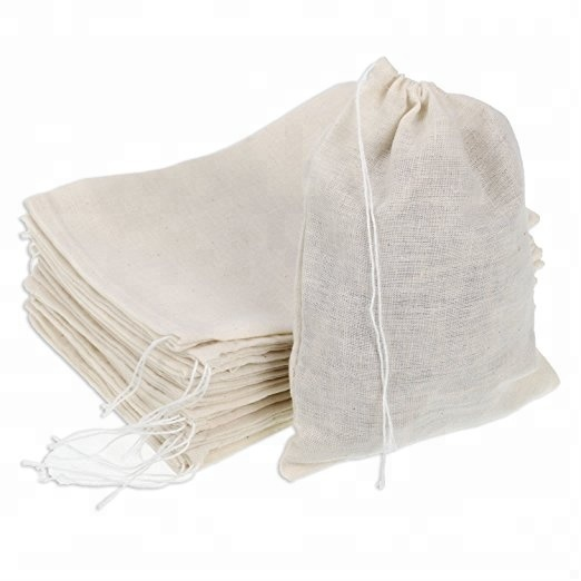 Cotton Muslin Bags Drawstring Bags