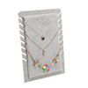 Wholesale different bead necklace display rack beautiful jewelry board necklace tray high quality
