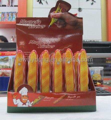 Hot sale cut novelty hot dog shape ball pen with wholesale price