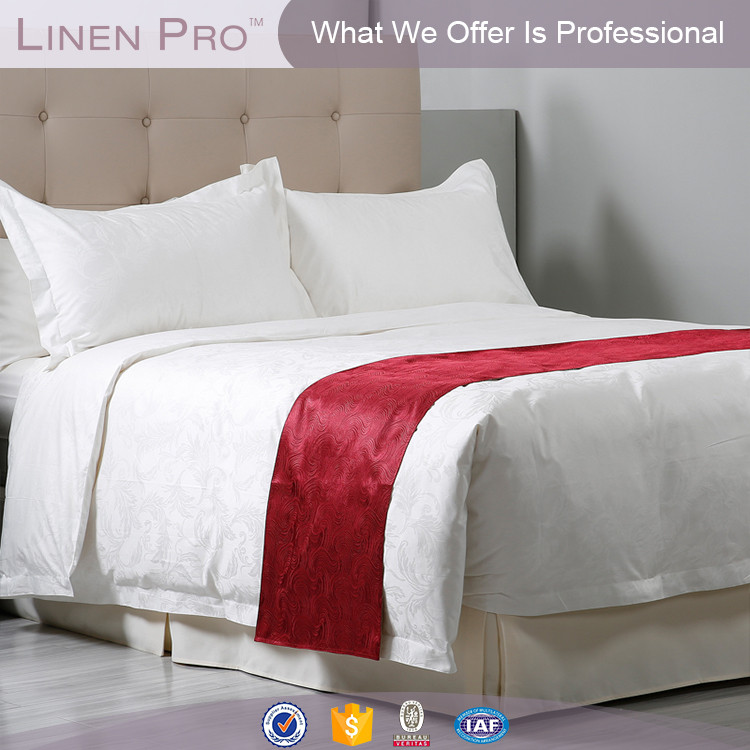 Hot sale! LinenPro hotel collection bedding red,cotton hotel bedding,hotel bedding set in cotton