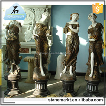 Stone carving decoration marble goddess four season garden statues