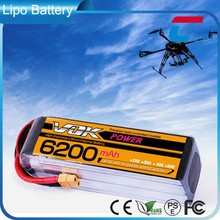 VOK 25C 14.8V 6000mAh Lipo Battery 4S1P for RC Helicopter