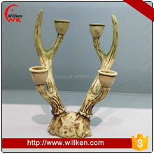 Polyresin ornament reindeer resin tea light candle holders