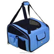 Hot Selling Car Booster Seats Foldable Oxford Pet Travel Carrier with Safety Leash