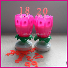 flower shape number musical birthday party candles