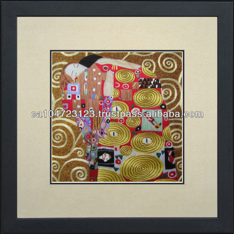 35067-Hug--Susho, King Silk Art 100% Handmade Silk Embroidery
