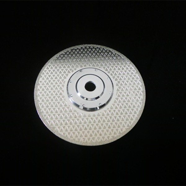 150mm star texture electroplated diamond cut blade for concrete