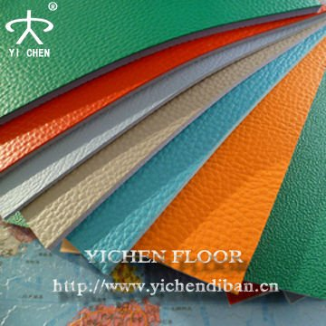 Lychee Pattern Of Pvc Sports Floorng for Indoor Sports Badminton Court/Volleyball Court/Tenis Court
