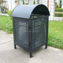 E-coating and Akzo Nobel powder coated outdoor metal trash can rubbish bin waste container