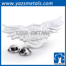 Custom silver cutterfly clips metal genesis wing badges