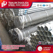 Round tube from China Tian Jin/astm a53 galvanized steel pipe/tianjin galvanized steelpipe