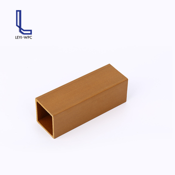Plastic composite material wpc wood square tube for ceiling design