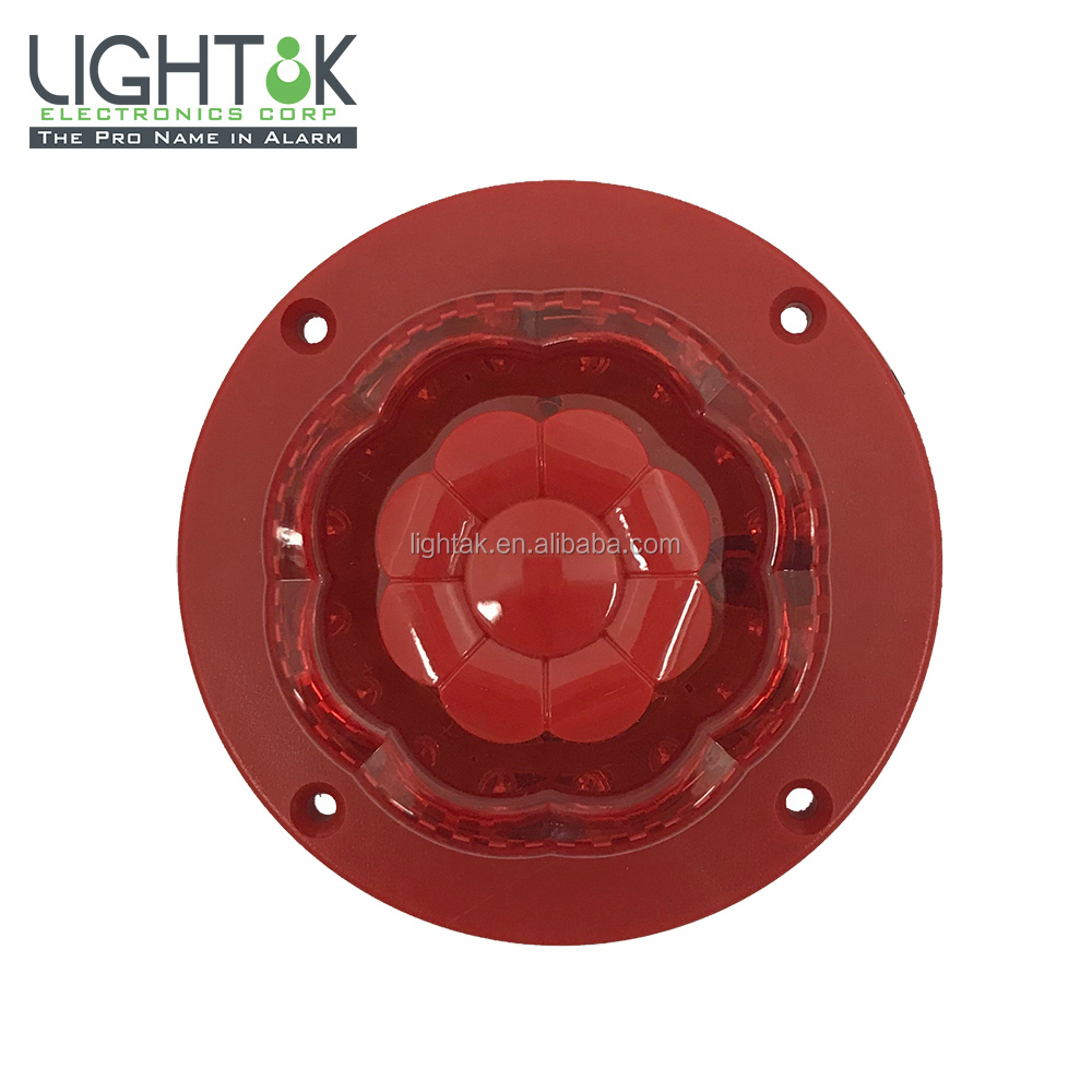 Flora Shape LED ring 130dB WATERPROOF LOUD Alarm Siren with Strobe warning burglar intruder home security LD-F87F