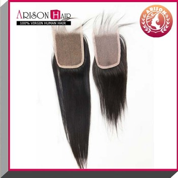 virgin indian hair 4*4 lace closure piece in straight