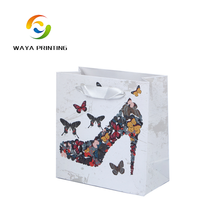 Exquisite custom made printed paper shopping bag for shoes