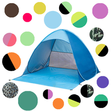 2017 trending hot sale Custom Logo printing portable outdoor beach tent one touch camping tent