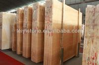 Polished yellow onyx marble for flooring design