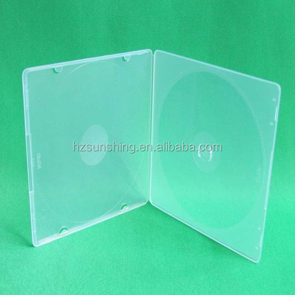 Hot Sale PP Plastic Clear Slim DVD Case