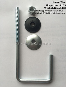 Grade4.8 carbon steel j hook bolts