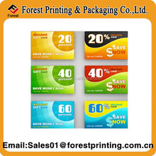 Paper Coupon Codes Printing / Security Coupon Printing