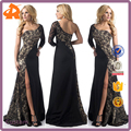 2017 sexy ladies' evening lace prom split cocktail dress with one shoulder for night club party