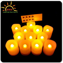 decorations home moving wick remote/wifi/dmx control led candle clear with high quality