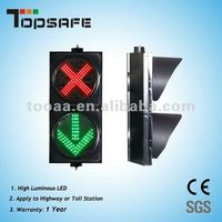 400mm Led traffic control Signal with red cross green arrow with CE