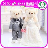 HI CE 30CM wedding favor teddy bear & teddy bear wedding dress