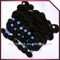 2013 Fashion style natural straight Brazilian/Malaysian/Chinese/Indian remy/virgin human hair weft