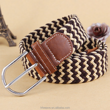 High Quality Woven Technics and Webbing Product Type Elastic braided Belt for men and women