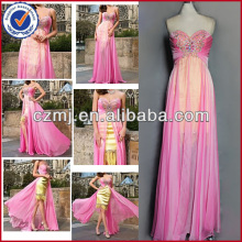Long beaded prom dress
