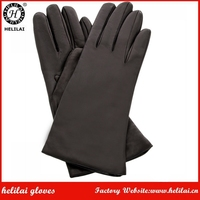 2017 New Womens Fashion Plain Style Genuine Leather Gloves