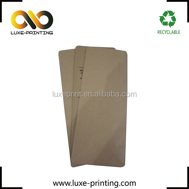 2016 most popular Kraft Paper laminated box bottom pouch with valve