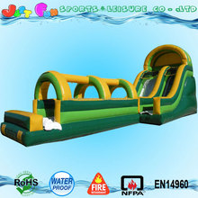 Custom inflatable slip n slide water slide for adults and kids