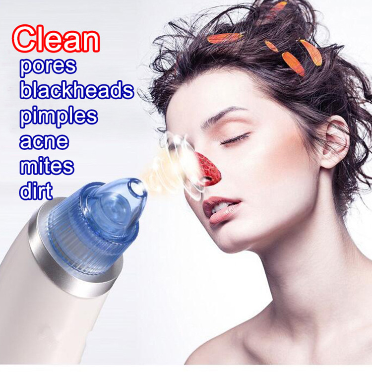 Handheld 4 Replace Heads Electric Usb Rechargeable Nose Blackhead Remover Pore Cleaner Vacuum Suction Beauty Machine
