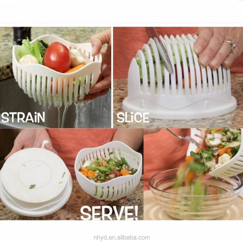 2017 Make Your Salad in 60 Seconds Vegetable and Fruit Cutter Bowl Salad Cutter Bowl