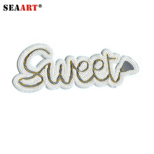 Letter Sweet Machine Made Sequin Embroidery Designs